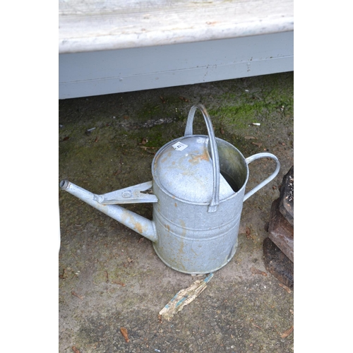 42 - Galvanised watering can...