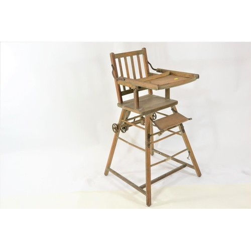 22 - Vintage metamorphic high chair...