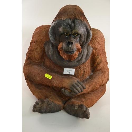31 - Large resin orangutan...