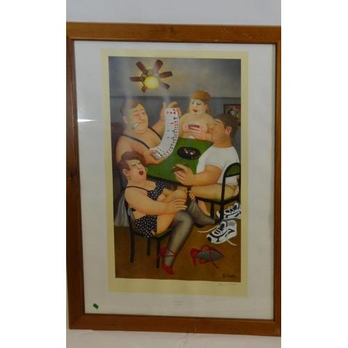 5 - Signed ltd. ed. artwork by Beryl Cook, titled 'Strip Poker.'...