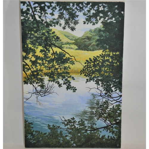 8 - View of the Tamar, acrylic on canvas by Carol Banks...