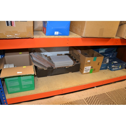30 - All tiles on bottom shelf, some complete boxes, various sizes...