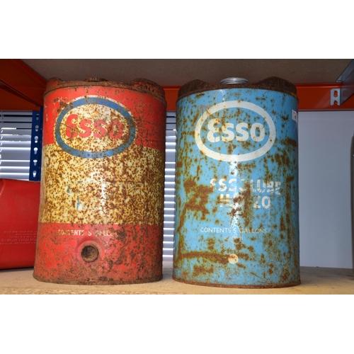 10 - 2 Vintage Esso 5 gallon cans...