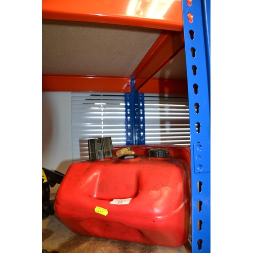 11 - Tempo Boat fuel storage container...