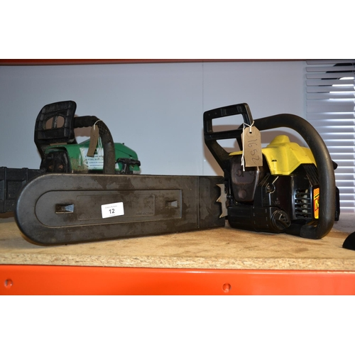 12 - McCulloch Mac 335 chainsaw (new carb & sparks but needs fetteling)...
