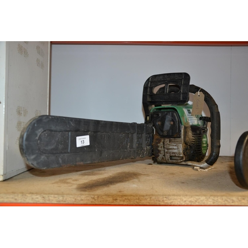 13 - Garden line petrol chainsaw...