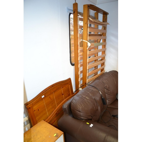 34 - Pine single bed with pull out guest bed (can convert to double)...