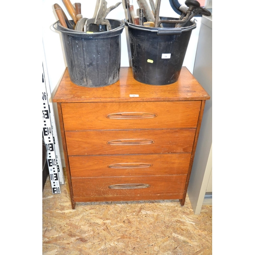 38 - Mid Century 4 drawer chest...