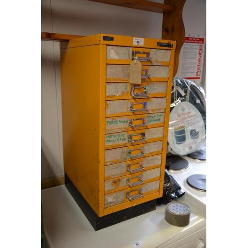 46 - Bisley steel filing cabinet...