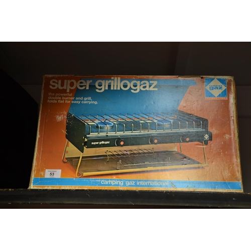53 - Super Grillagaz outdoor camping stove (used only once)...