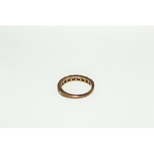 270 - 9ct gold & CZ half eternity, 2.33 grams, size J...