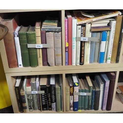 554 - 4 shelves of non fiction books inc. natural history, 2 volumes Winston Churchill the Second World Wa...