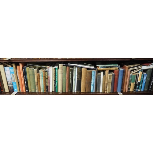 570 - Shelf of large number of English Architecture related books, mostly churches...