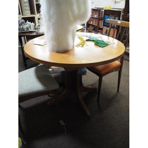 613 - Parker Knoll extending table, 100cm wide unextended...