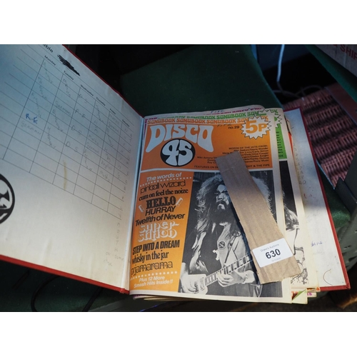 630 - Binder of vintage magazine Disco 45...