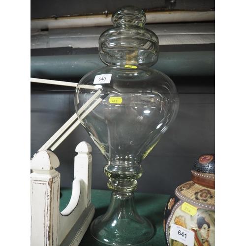 640 - Bulbous apothecary jar , 56cm high...