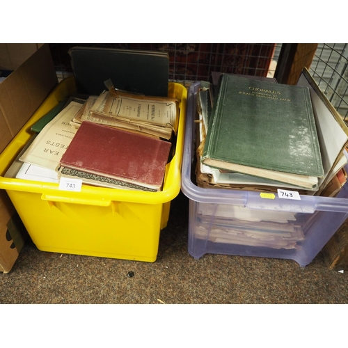 743 - 2 boxes of sheet music...
