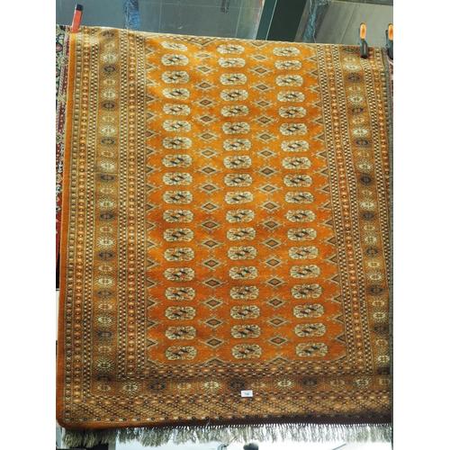 799 - Woollen Tekke rug. Width 125 CM. Length 1.7 M approx...