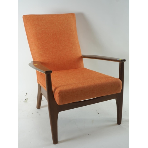 63 - Parker Knoll armchair reupholstered in 2016 with receipt...
