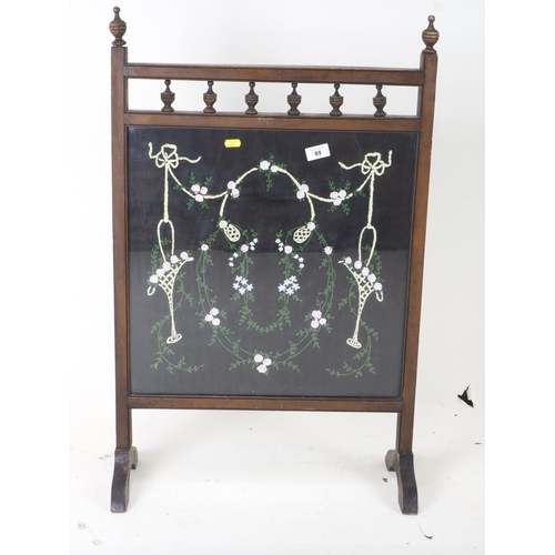89 - tapestry fire screen...