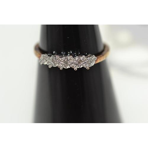 324 - 9ct gold & diamond ring, 1.18 grams, size N...