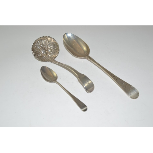 428 - Three Georgian HM silver spoons, gross weight 103 grams...