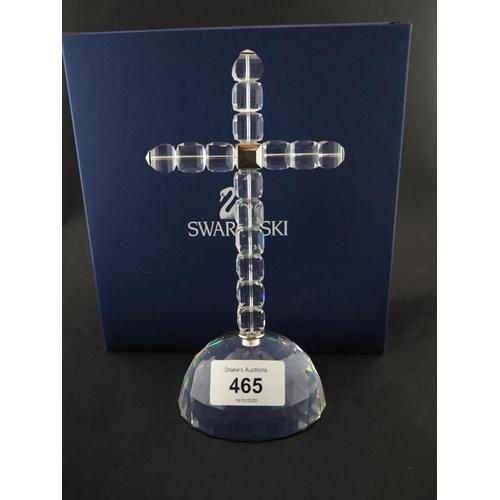 465 - Swarovski cross boxed in mint condition...