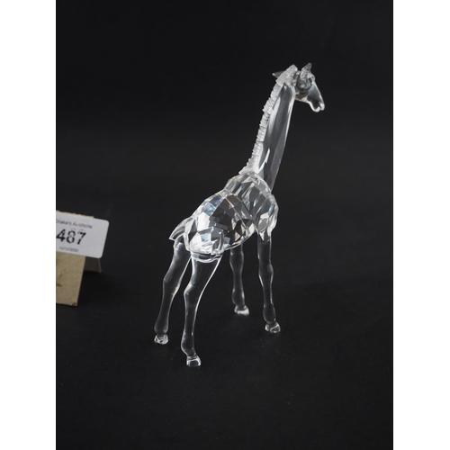 487 - Swarovski giraffe in mint condition...