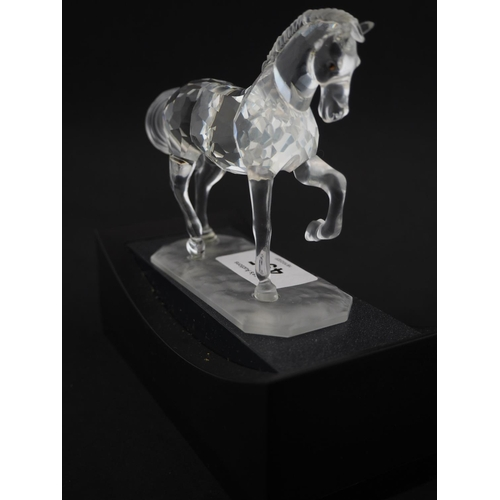 495 - Swarovski horse and stand...