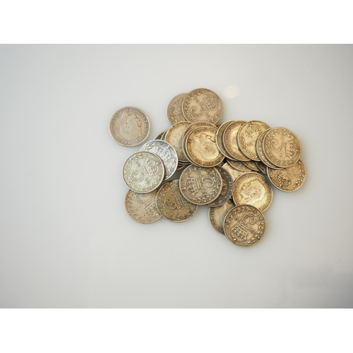 195 - 30 + pre 1920 silver threepences...
