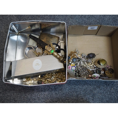 463 - Qty of vintage dress jewellery in boxes...