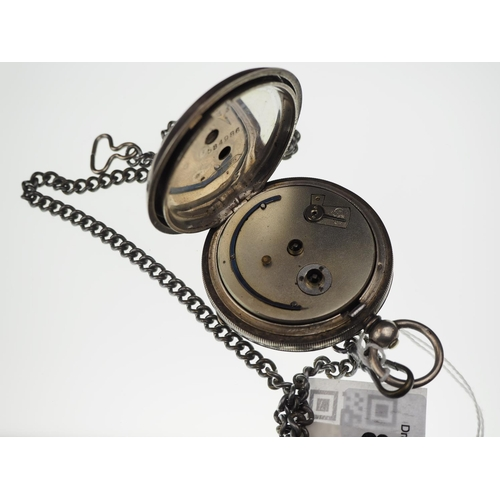 810 - Swiss 935 silver cased open faced key wind pocket watch with subsidiary seconds, case numbered 58498...