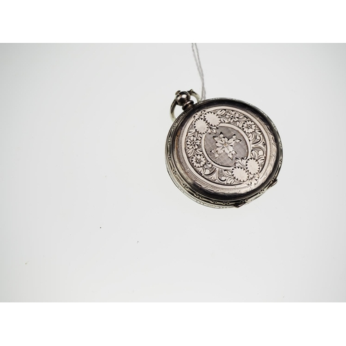 816 - Small silver cased ladies open faced key wind pocket watch, silver maker Petitpierre & Co, Birmingha...