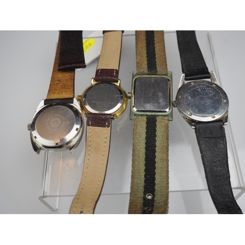 827 - Four vintage watches including Roma, Pilot, Certina & unnamed...