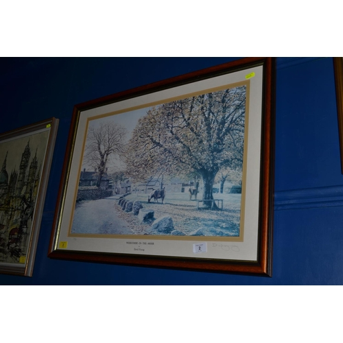 2 - David Young, 'Widecombe in the Moor',  signed ltd ed print, framed