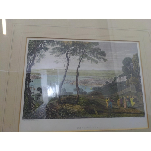 25 - Box of antiquarian engraving & prints, mostly Devon and Cornwall...