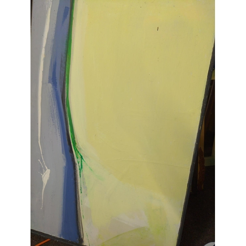 37 - 2 x Brian Latham Oils on board & canvas, abstract...