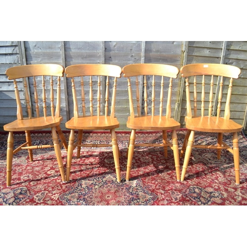 9 - 4 Beech Farmhouse stick back kitchen chairs