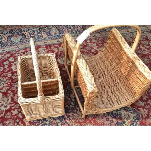 29 - Wicker log basket and picnic basket