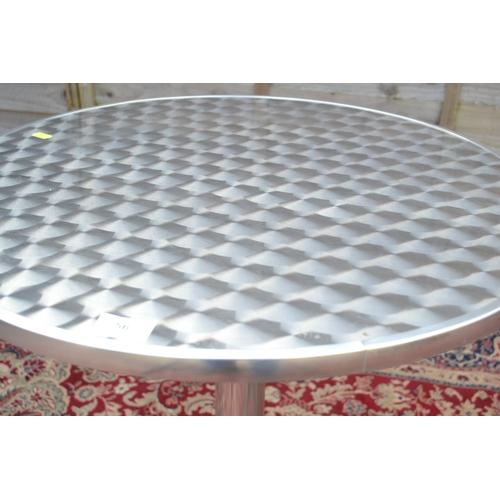 56 - Aluminium topped bistro table Dia 60cm
