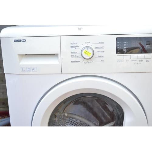 57 - Beko Washing machine WM74135W 7KG a++ rated