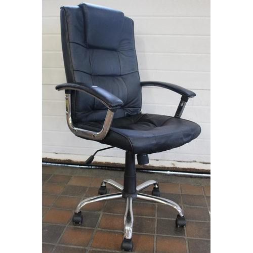 21 - LEATHER LOOK OFFICE CHAIR...