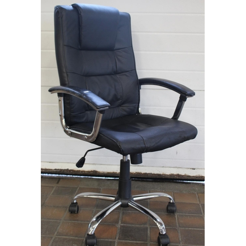20 - LEATHER LOOK OFFICE CHAIR...