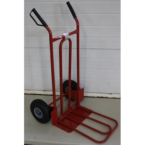 22 - RED FOLDING SACK TROLLEY...