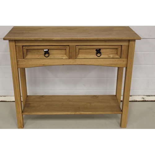 58 - CORONA 2 DRAWER CONSOLE TABLE...