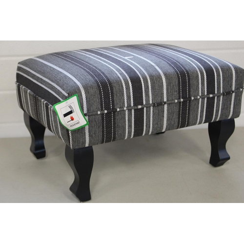 52 - SMALL STRIPED STOOL...