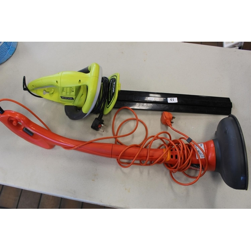 13 - FLYMO STRIMMER & HEDGE CUTTER...