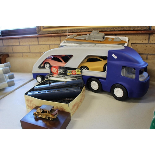 48 - QTY TOY CARS,TRAINS & BOAT...