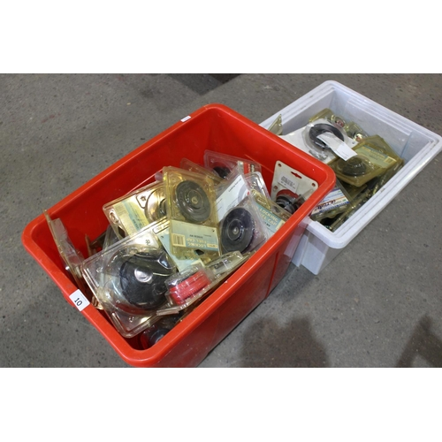 10 - 2 LARGE BOXES PETROL CAPS...