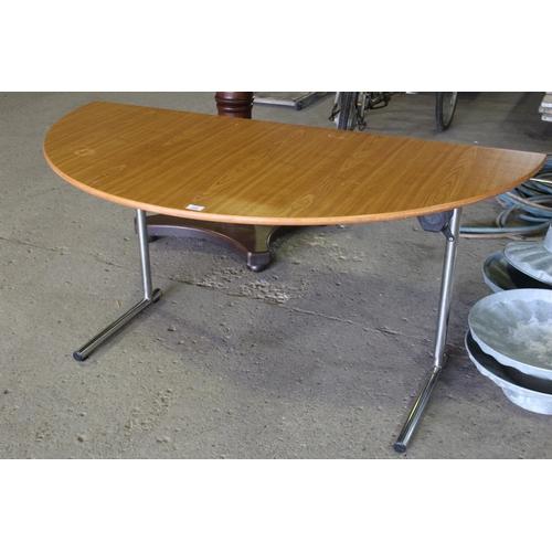 23 - HALF MOON FOLDING BANQUET TABLE...